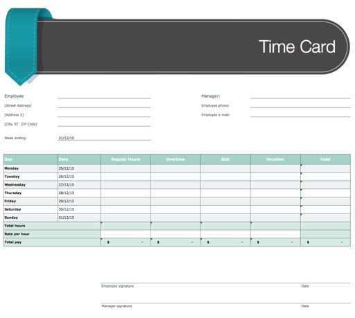 Templates For Ms Excel Design